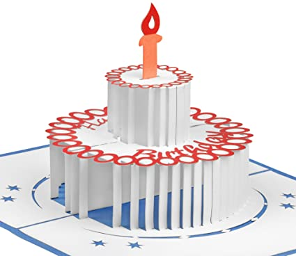 Handmade Birthday Cake Pop Up Card By GALAXY POP