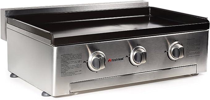 Plancha à gaz FireFriend BQ 6342F – 2 brûleurs – Plaque de