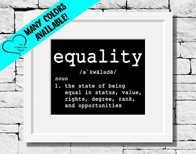 Amazon.com: Equality Definition, Equality Quotes, Dictionary ...