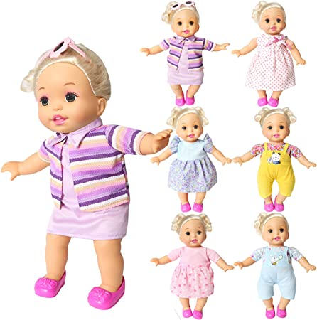 BOBO Set of 6 Outfits - Mixed Patterns and Styles