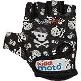 Kiddimoto GLV019S - Handschuhe Totenköpfe, Größe S, schwarz/weiß