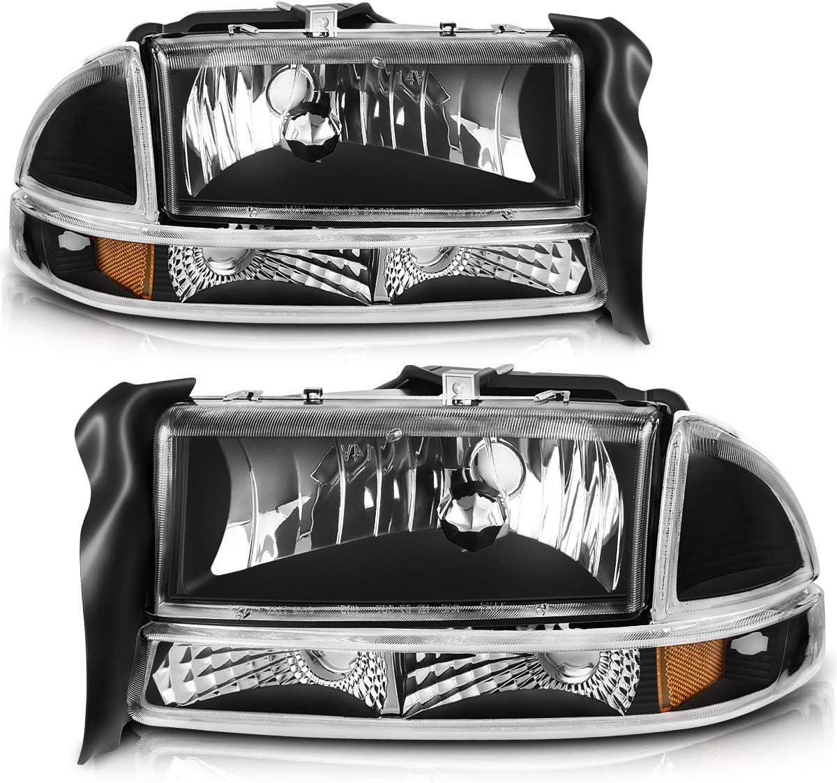 Amazon Com Autosaver88 Headlight Assembly Compatible With 1997 2004 Dodge Dakota 98 03 Dodge Durango Headlamp Automotive