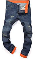 MR. R Men's Distressed Washed Ripped Slim Fit Jeans US 27-38