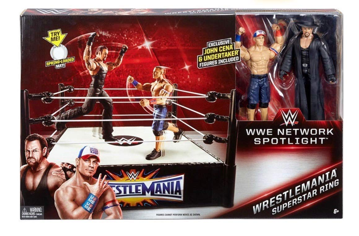 Mattel WWE Wrestlemania Superstar Ring with Action Figure English Edition