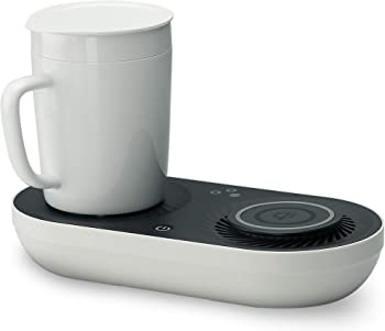 Nomodo Wireless Qi-Certified Fast Charger with Mug Warmer/Drink Cooler