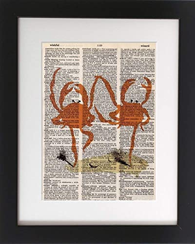 This Kitchen Is For Dancing On Upcycled Vintage Dictionary Page Wall Décor Print