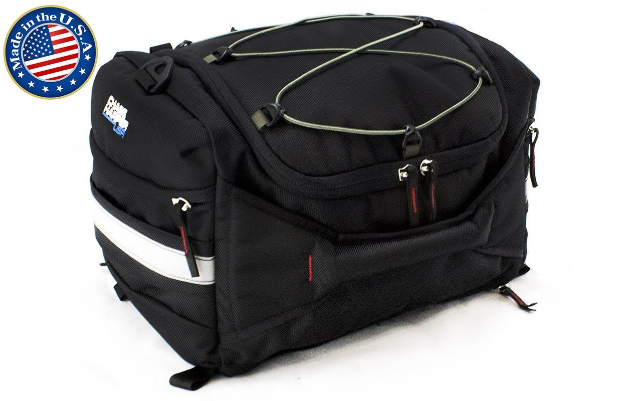 Chase Harper 4200 Hideaway Tail Trunk - Water-Resistant, Tear-Resistant, Industrial Grade Ballistic Nylon with Adjustable Bungee Mounting System for Universal Fit, StuffSack Pocket for Easy Transport, 18.8 Liters of Storage - 12''Lx12''Wx8''H