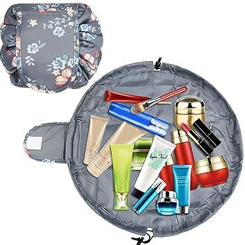 52da32be93a3 SuPoo Portable Lazy Drawstring Makeup Bag Fashion Cosmetic Bag Large  Capacity Waterproof Travel...