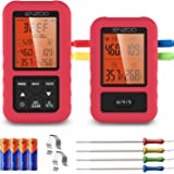 ENZOO Wireless Meat Thermometer for Grilling, Accurate & Fast Digital Meat Thermometer with 4 probes, 500FT Remote…