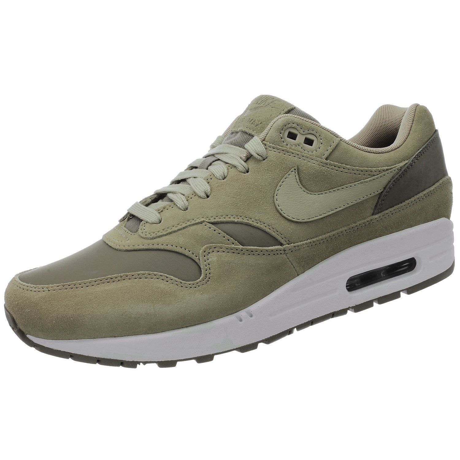 Nike Air Max 1 Premium Leather AH9902 201 Herren Sneakers/Freizeitschuhe/Low-Top Sneakers Beige  40 EU|Beige
