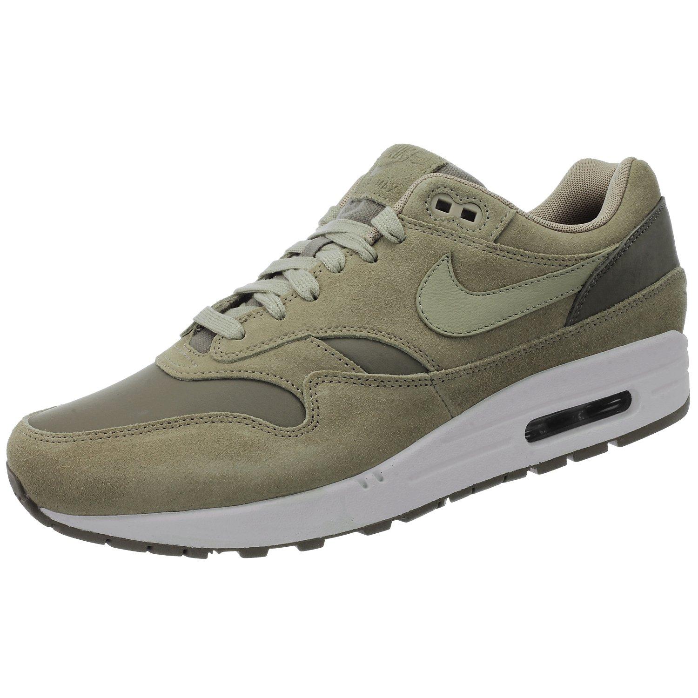 Nike Air Max 1 Premium Leather AH9902 201 Herren Sneakers/Freizeitschuhe/Low-Top Sneakers Beige  46 EU|Beige