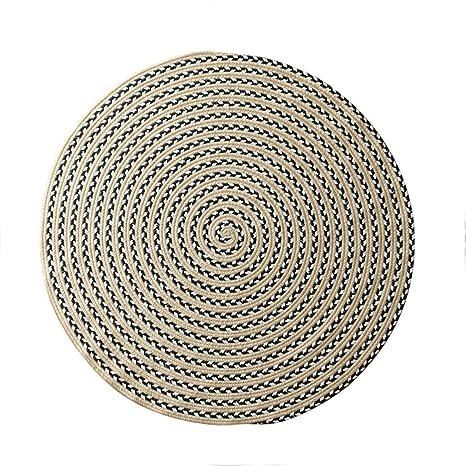 Amazon.com: Alfombras redondas de algodón y lino trenzadas a ...