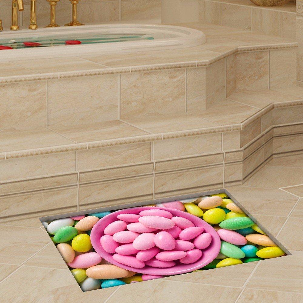3D to/bathroom/extra Living room/bedroom door/office/passageways/water/anti-skid/hd/Self-adhesive/personality/Trim/posters (5890cm)