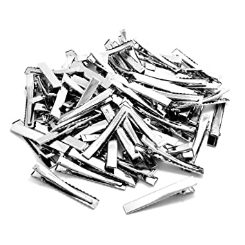 SINGLE PRONG ALLIGATOR CLIPS with TEETH HAIR BOWS METAL CLIPS Pack of 100 PCS