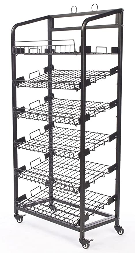 Completely new Amazon.com: Displays2go Steel Baker's Rack with Wheels 6 Wire  NH56