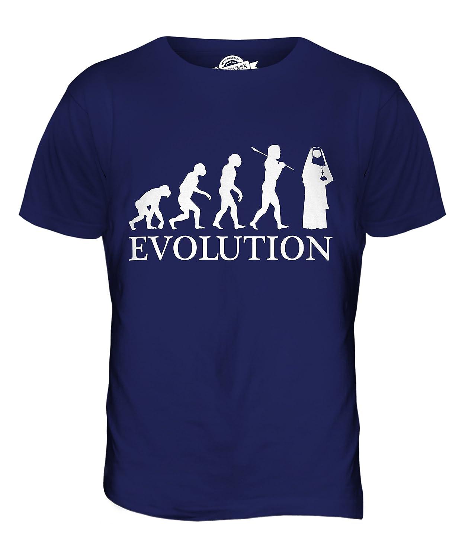 CandyMix Nonne Evolution Des Menschen Herren T Shirt: Amazon.de: Bekleidung