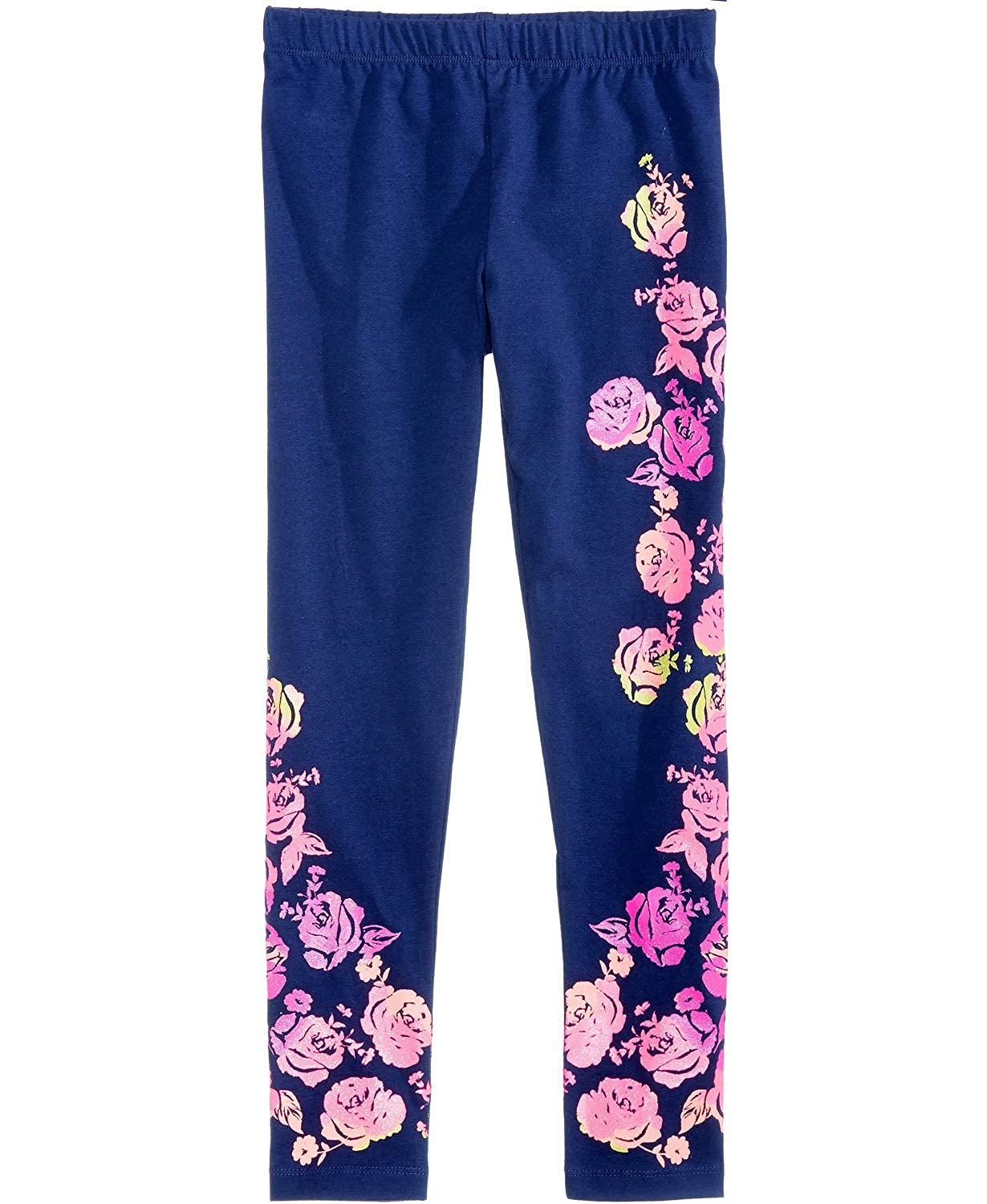 10//12 Epic Threads Big Girls Floral-Print Leggings Medieval Blue Size M