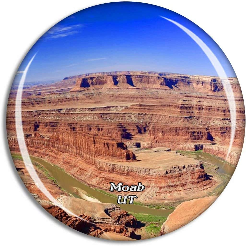 Moab Dead Horse Point State Park Utah USA Magnet Travel Souvenir 3D Crystal Glass Collection Gift Refrigerator Sticker