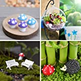 INHEMI 111 Pieces Fairy Garden Accessories