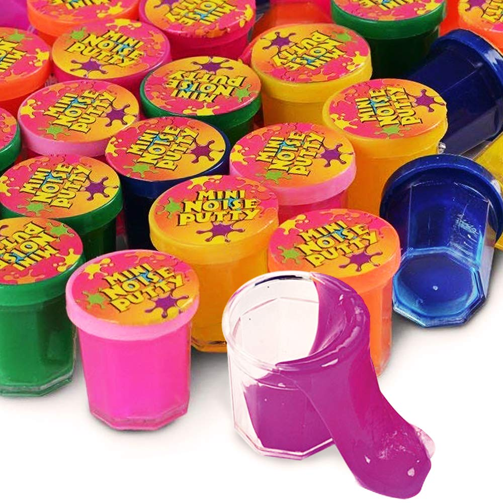 Sensory Prizes Toys Goody Bags Party Favors Barrel Of Slime 12 Pack Carnivals Different Colors Stocking Stuffers