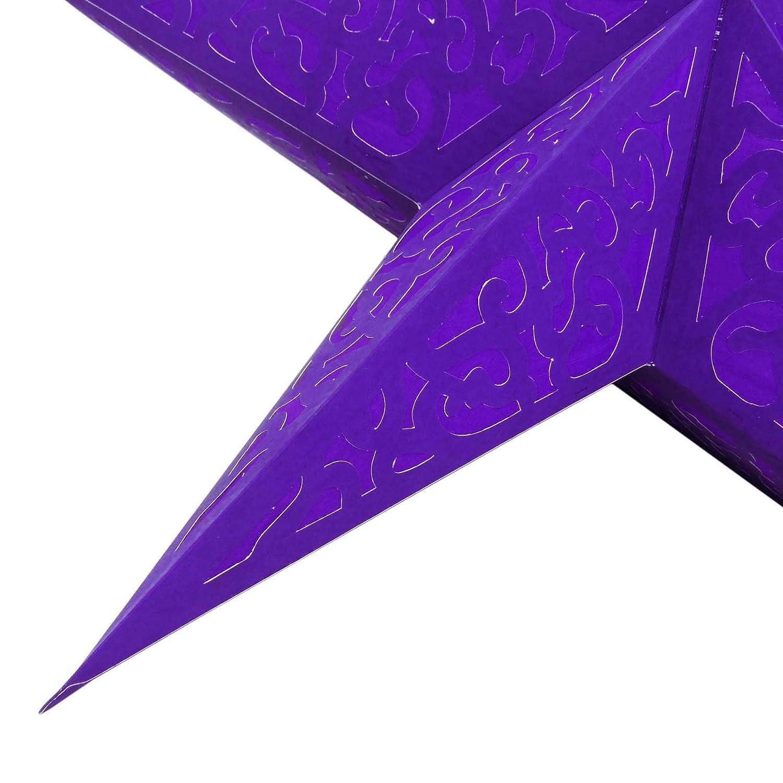 L/éger Papier Lampe d/écorative /étoile Parti Festive Hanging lanterne indienne