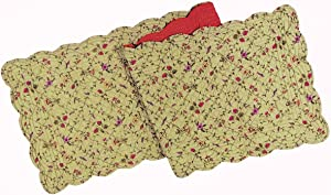 C&F Home Coventry Cotton Quilted Reversible Table Cotton Machine Washable Runner 14x51 Runner Green