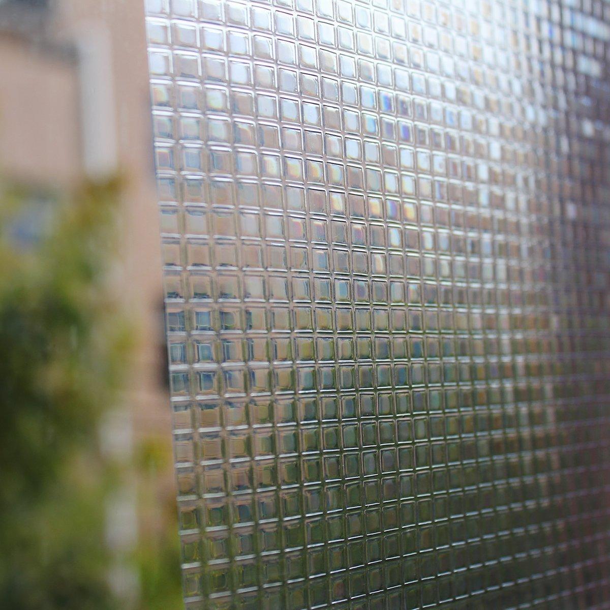 Aingoo klein Mosaik Fensterfolie Sichtschutzfolie Milchglasfolie