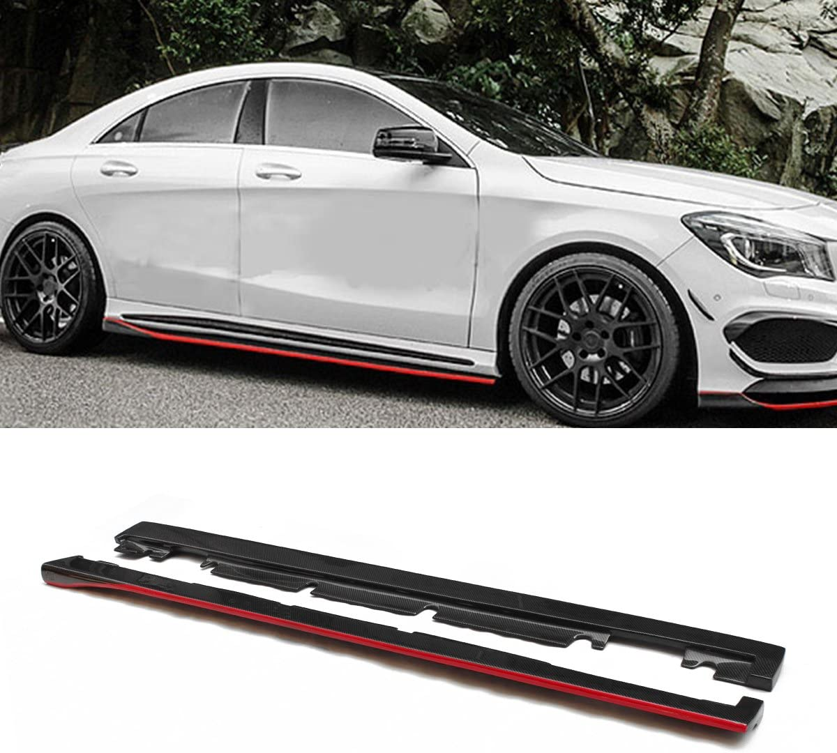MERCEDES A45 AMG W176 SIDE SKIRT DRIVER SIDE RIGHT O//S NEW PRIMED