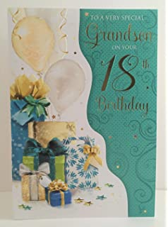 White Cotton Cards 1 Piece Grandson Happy Birthday Extra Large 18th