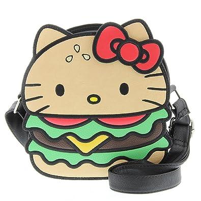 8dc206765 Hello Kitty Crossbody Bag: Hamburger: Handbags: Amazon.com