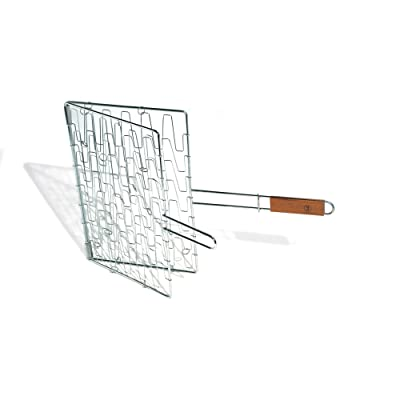 Outset QC73 Flex Grill Basket with Rosewood Handle