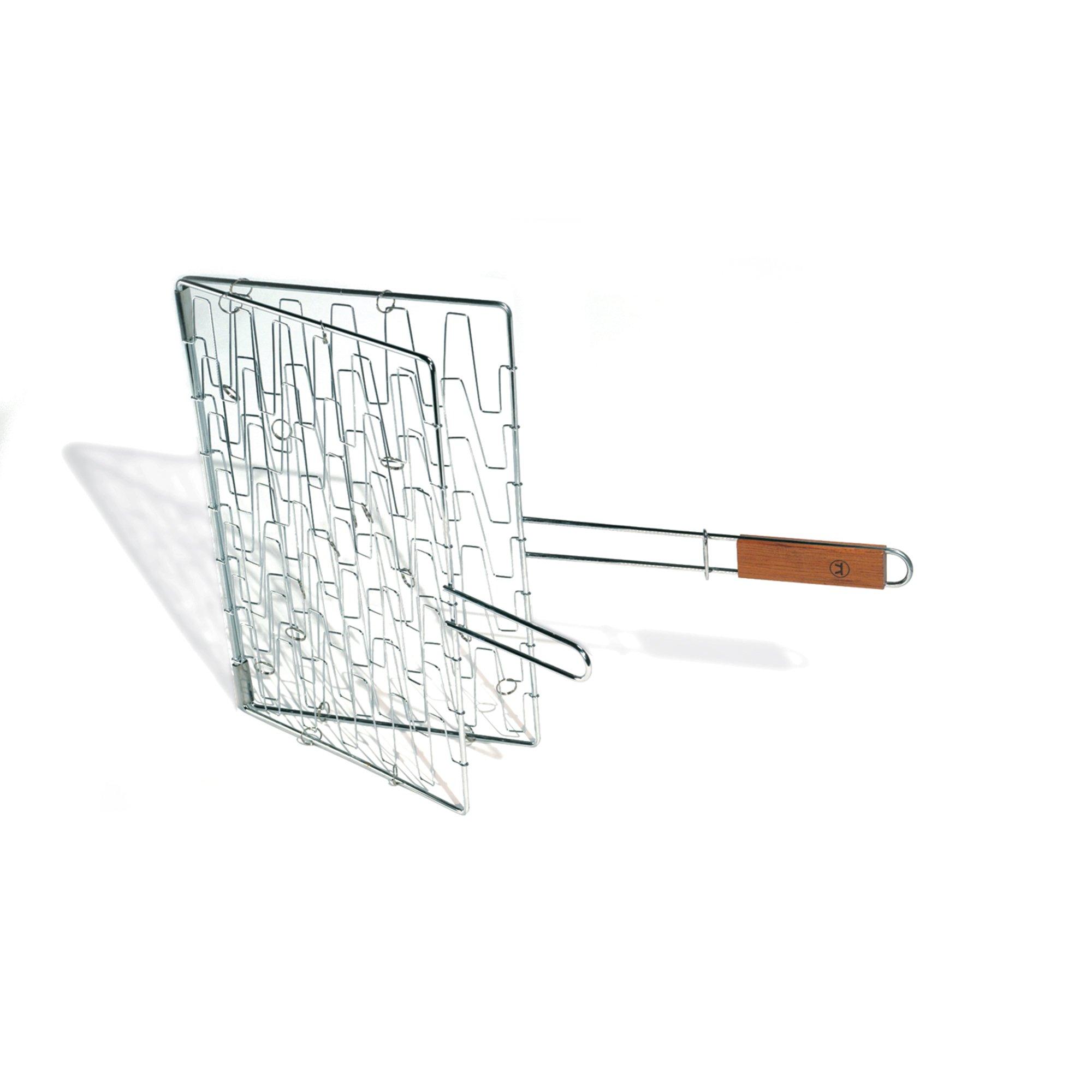 Outset QC73 Rosewood Flex Grill Basket, Metallic