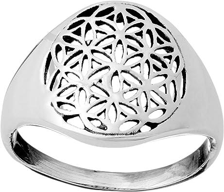 81stgeneration .925 Sterling Silver Sacred Flower of Life Medallion Ring
