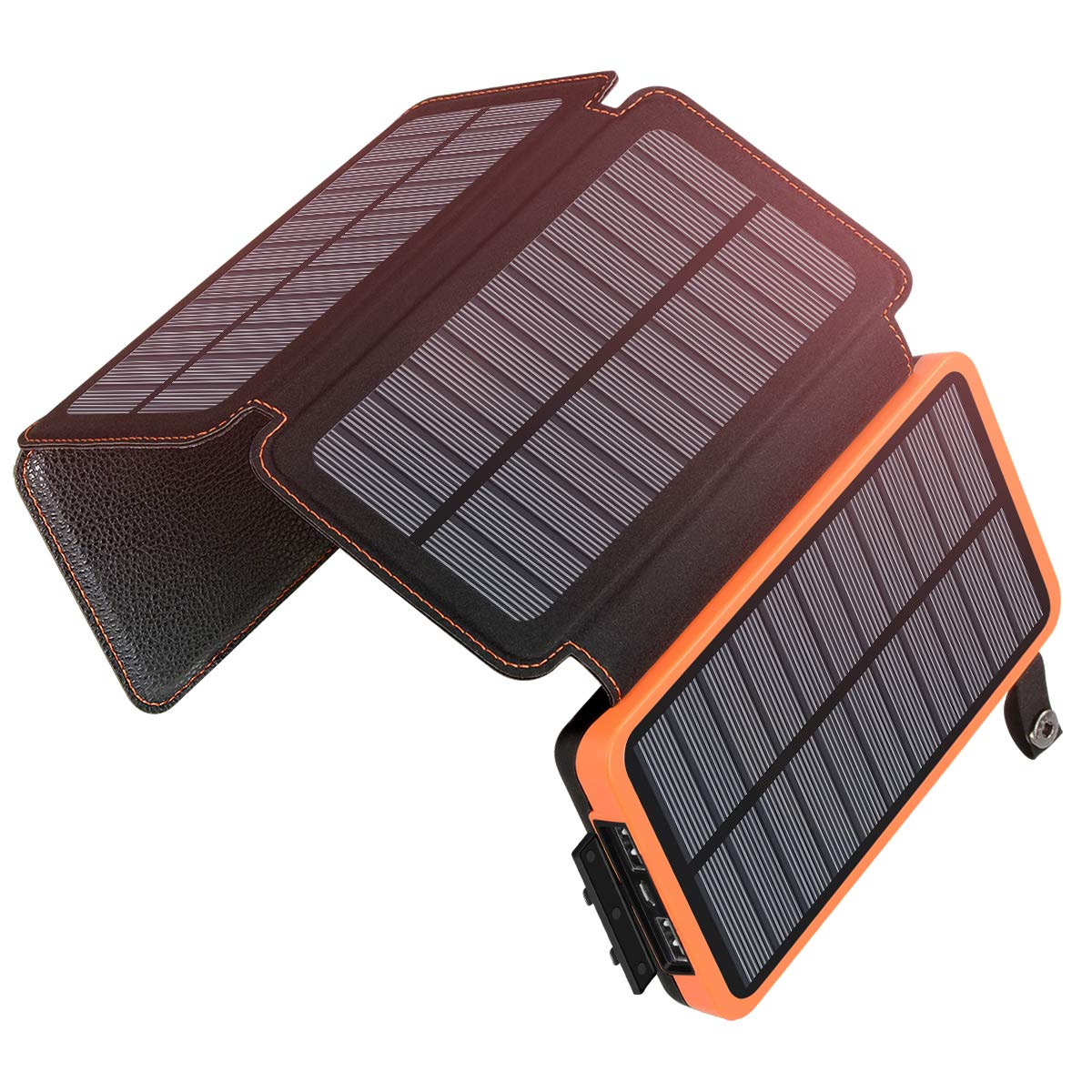 Solar Charger 25000mAh, SOARAISE Waterproof Power Bank with 4 Solar Panels Portable Battery Pack Compatible with Most Phones, Tablets and More by SOARAISE