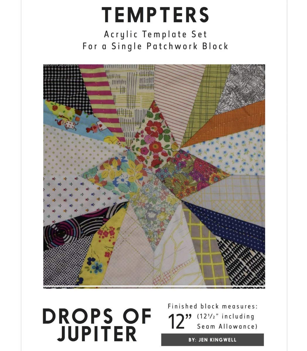 Drops of Jupiter Tempters Acrylic Templates Instructions Jen Kingwell Quilting by Jen Kingwell