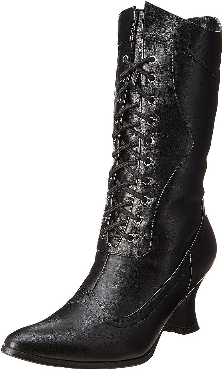 Ellie Shoes Women's 253 Amelia Victorian Boot, Black Polyurethane