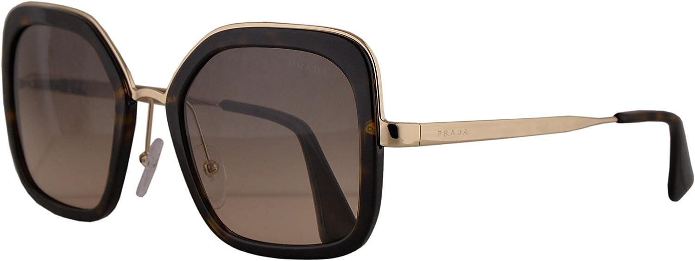 Prada PR57US Havana - Gafas de sol con lentes de 54 mm, color gris degradado 2AU3D0 SPR57U PR 57US SPR 57U