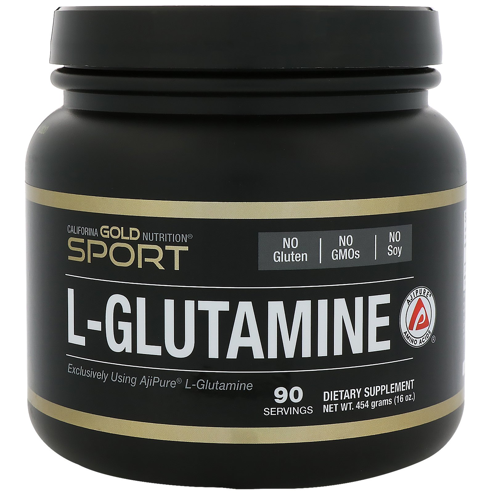 California Gold Nutrition L-Glutamine Powder AjiPure Gluten Free 16 oz 454 g