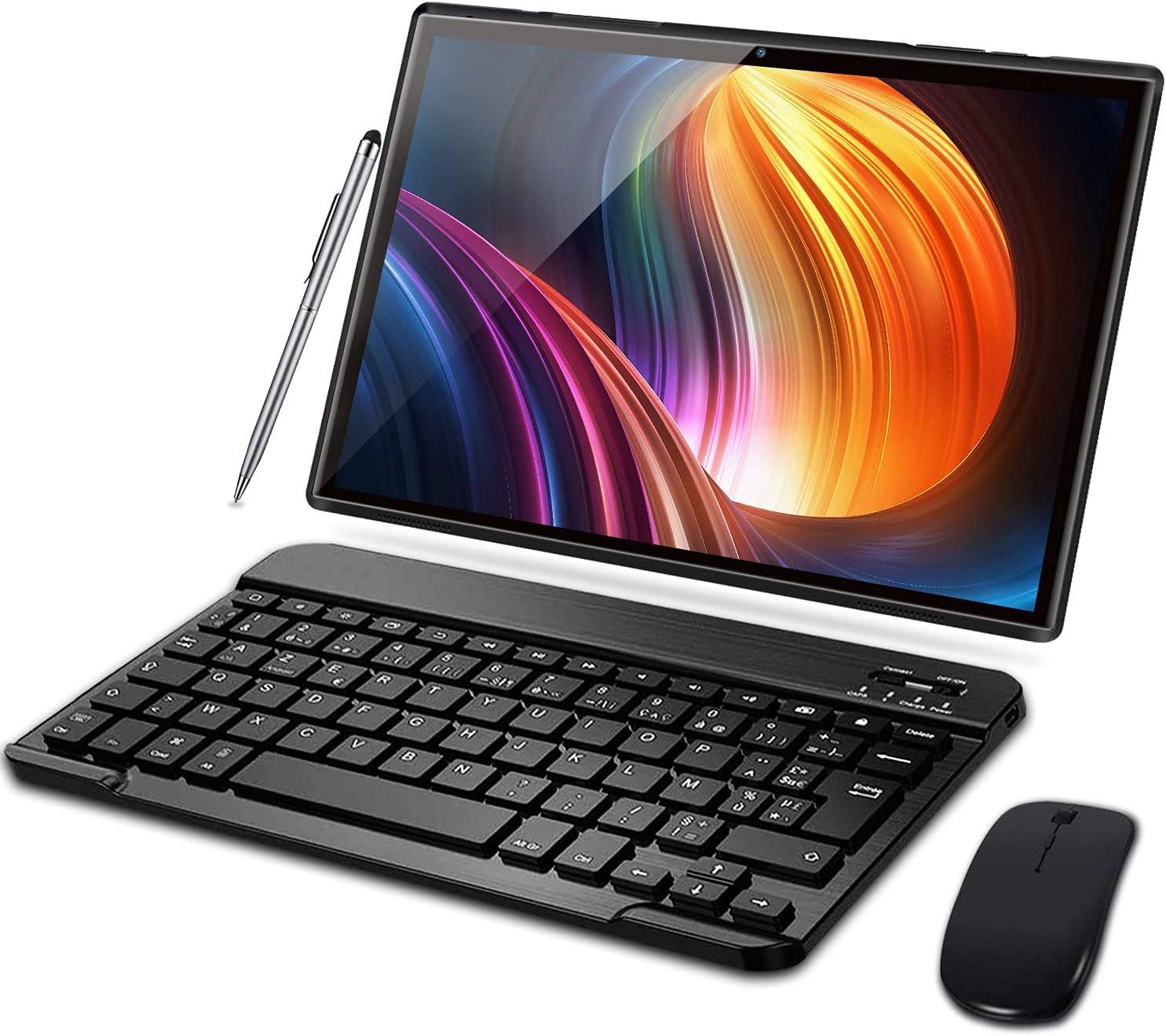 Tablet 10 Pulgadas 3GB RAM 32GB ROM Android 10 Pro Tablets con Quad Core | Cámara Dual 5MP + 8 MP | Doble SIM | Batería 8000mAh | WiFi | Bluetooth | ...