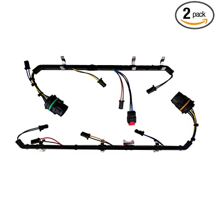 amazon com: fuel injector wiring harness repair kit left & right bank for  2008 2009 2010 ford f250 f350 f450 f550 v8 6 4l powerstroke diesel:  automotive