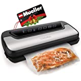 Vacuum Sealer Machine By Mueller | Automatic Vacuum Air Sealing System For Food Preservation w/Starter Kit | Compact…