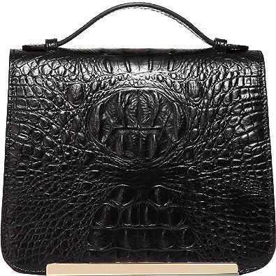c6d873d98574 Amazon.com  Vicenzo Leather Inaya Croc Embossed Leather Crossbody ...