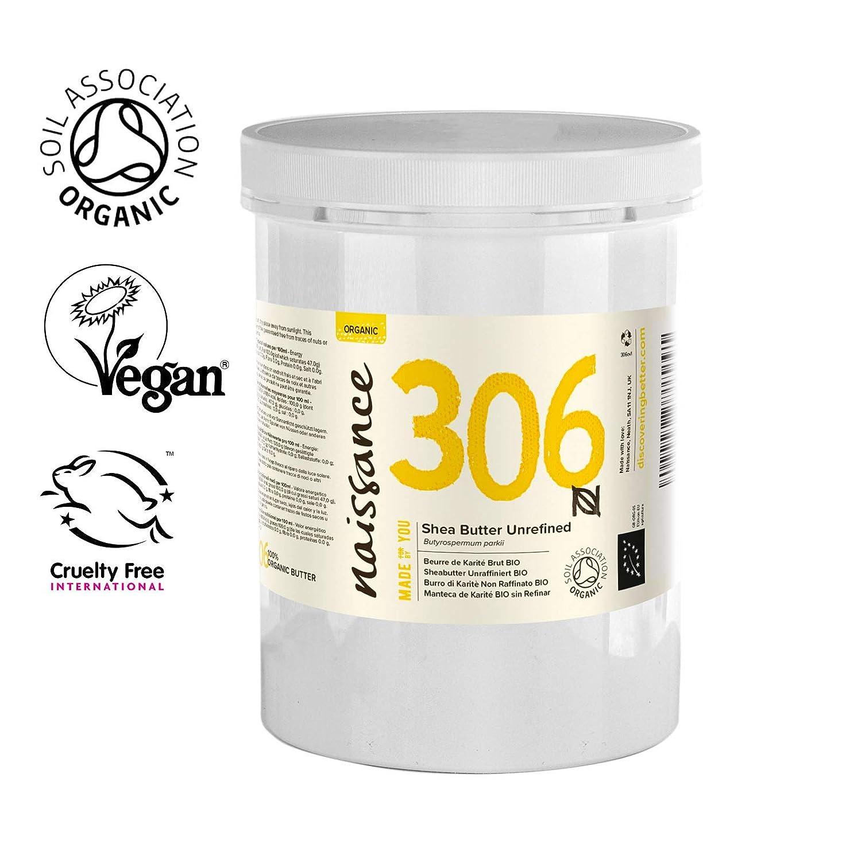 Naissance Manteca de Karité BIO n. º 306 – 1Kg – Pura, natural, certificada ecológicamente, sin refinar, elaborada de forma artesanal y vegana