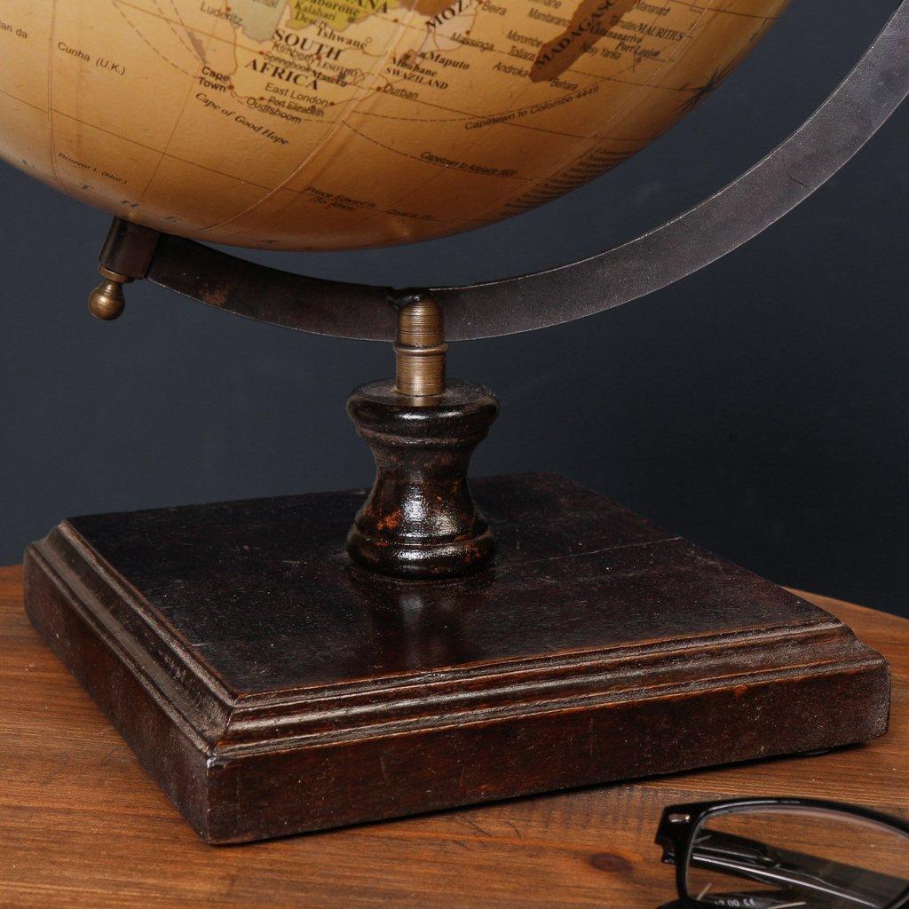 Amazon.de: Antiker Vintage-Stil Holz Globe - Distressed Finish ...