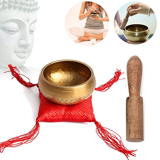 Amazon.com: 100mm Tibetan Yoga Singing Bowl Chakra ...