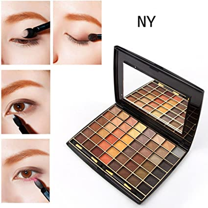 Paleta de sombras de ojos de 48 colores dorados mate: Amazon ...