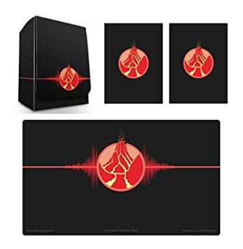 Amazon 1 Iconic Elemental Fire Symbol Red Deck Box Playmat