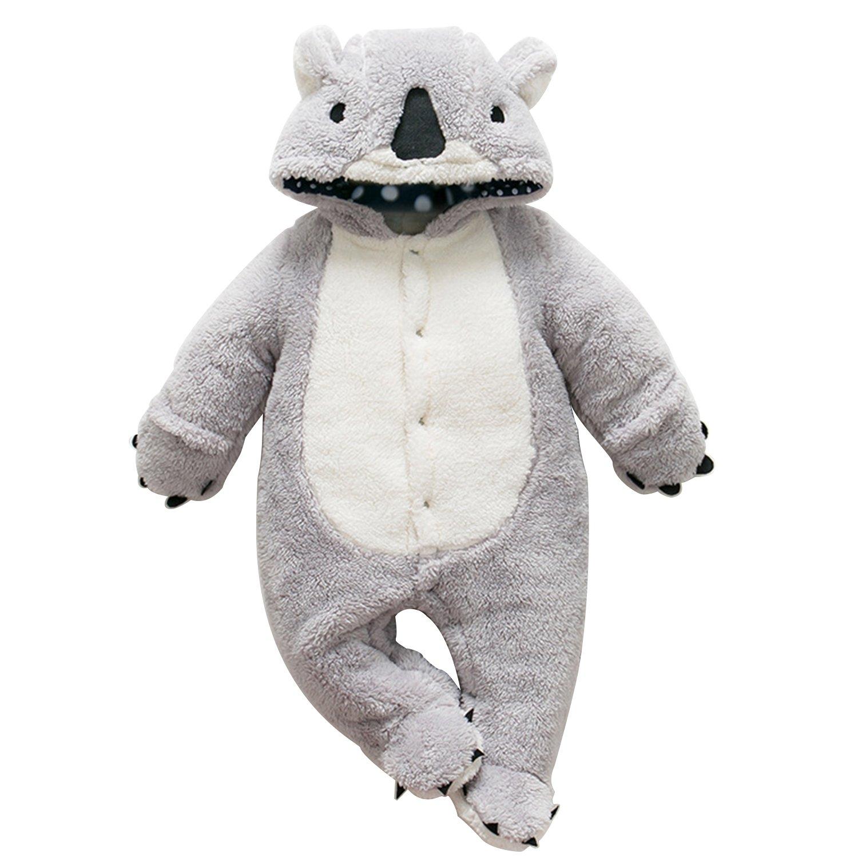 Chic-Chic Grenouillères Animal Combinaison Automne Hiver Barboteuse Enfant Flanelle Filles Costume Chaud Mignon Pyjama