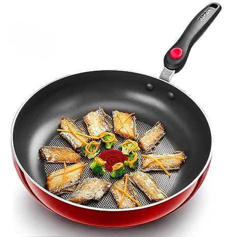 Sartenes para freír Antiadherente,Pan no Cubierto Revestimiento Antiadherente Pfoa Seguro lavavajillas Libre 11 Inch