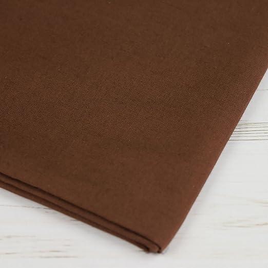 Plain láminas de extra ancho marrón chocolate 100% algodón Craft Tela 60 cm de ancho – se vende por metro: Amazon.es: Hogar
